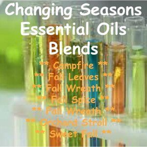 3 Test Tubes Changing Seasons Essential Oil Blends